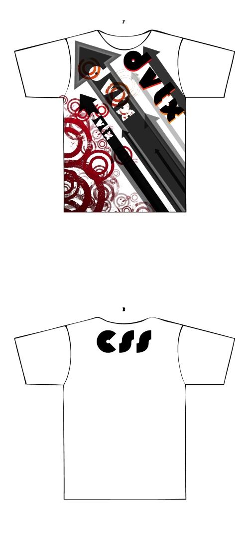 DVTX grungearrowshirt white